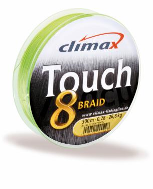 Climax Touch 8 Braid Chartreuse 0.22mm Meterware - Geflochtene Schnur