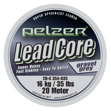 Pelzer Lead Core Leader Gravel Green 16kg/35Lbs 2 x 0.9m Vorfach Schnur