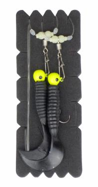 Aquantic Twister Rig Double Black. Gr.2/0 Meeresvorfach