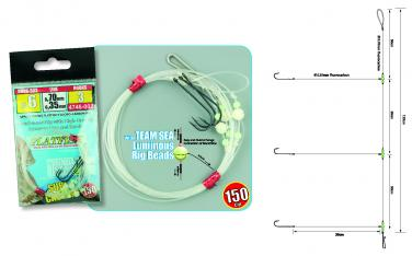 Spro 3-Haken Plattfisch Vorfach Fluoro Gr.4