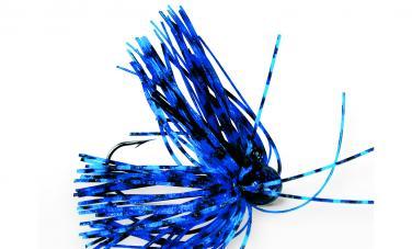 VMC Skirted Dancing Head Black/Blue 2/0  7g Kunstköder