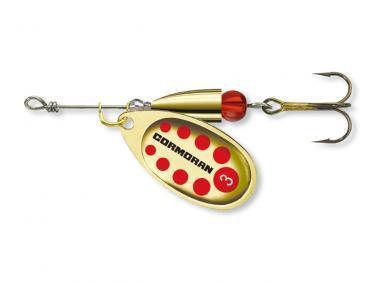 Cormoran Bullet Gold/Rot Gepunktet Gr.1 Spinner