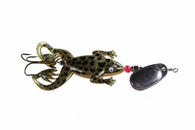 Jenzi Jack's Rubber Froggy Spin Gold Schwarz Oberflächenköder