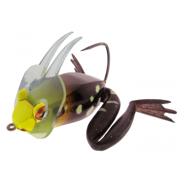 River2Sea Dahlberg Diver Frog 60 Yellow Head 6cm Froschimitat
