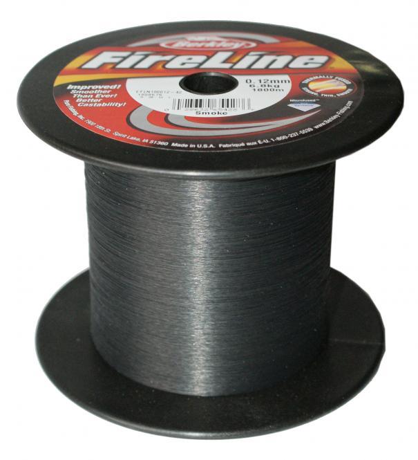 Berkley Fireline Smoke 0.12mm Geflochtene Schnur - Meterware