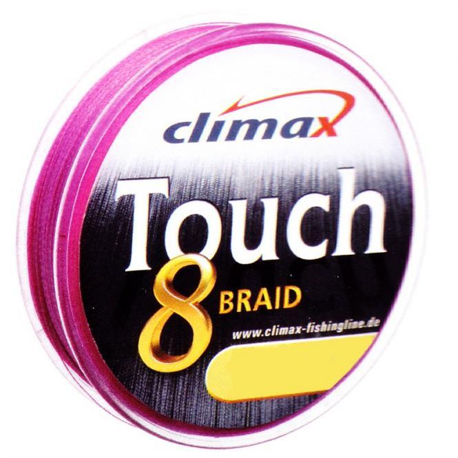 Climax Touch 8 Braid Pink 0.14mm Geflochtene Schnur Meterware