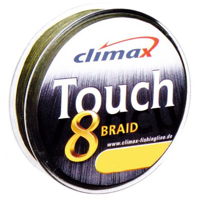 Climax Touch 8 Braid Dunkel Grün 0.14mm Geflochtene Schnur Meterware