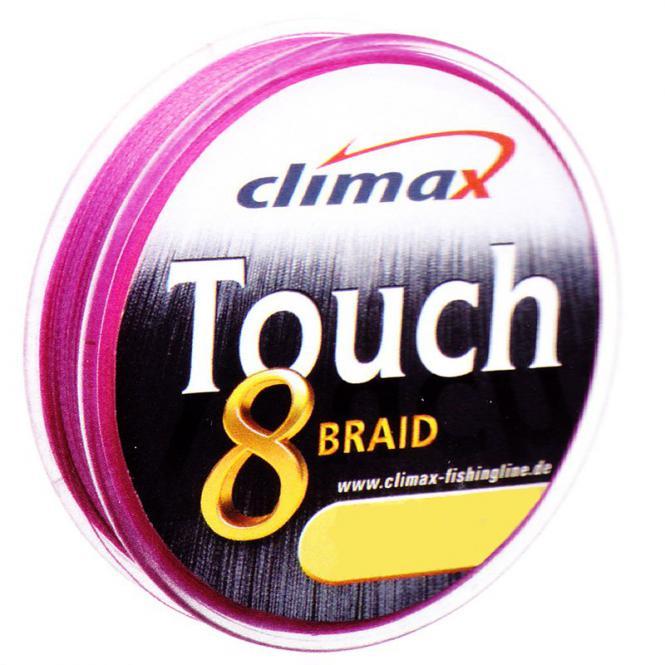 Climax Touch 8 Braid Pink 0.12mm Geflochtene Schnur Meterware