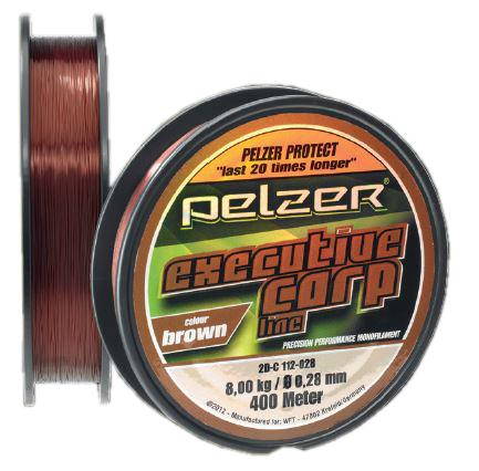 Pelzer Executive Carp Line Brown 0.35mm 400m Monofile Schnur