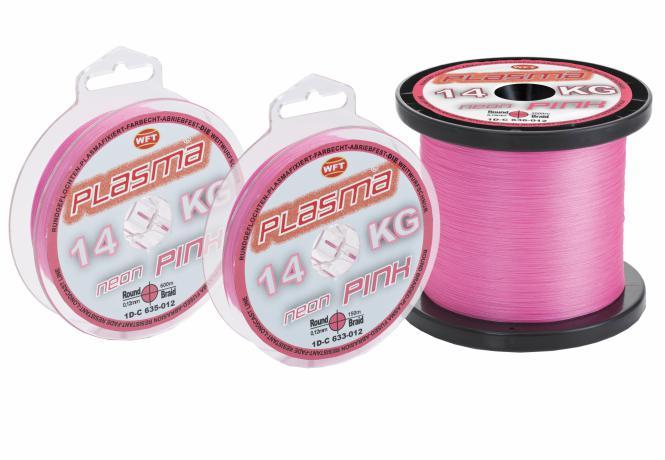 WFT Plasma KG Neon Pink 0,08mm 8Kg 1m Geflochtene Schnur - Meterware