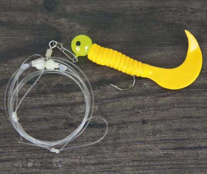 Aquantic Twister Rig Single Yellow Gr.2/0 Meeresvorfach