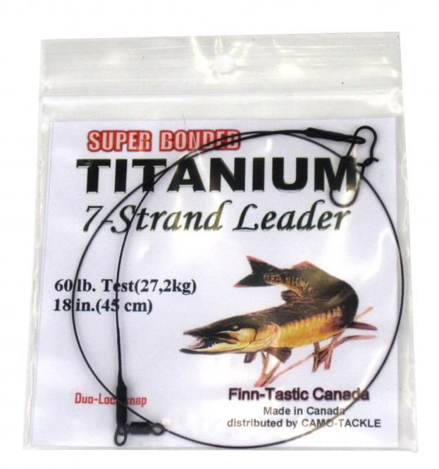 Finn Tastic Titanium Seven-Strand-Leader 27,2kg (60lb) DuoLock Snap Stahlvorfach