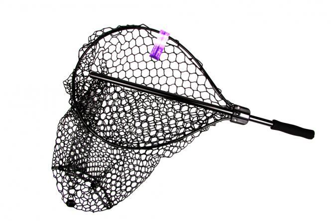 Kahara Rubber Landing Net Deep Type Schwarz Kescher