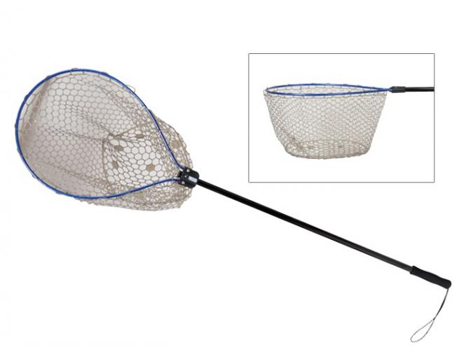 Kahara Bass Tournament Rubber Landing Net Blau/Schwarz Kescher