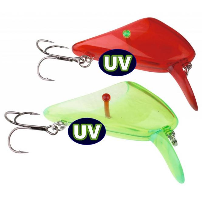 Savage Gear 4Play Lip Scull UV Rot/Grün L#1 Wobbler Zubehör
